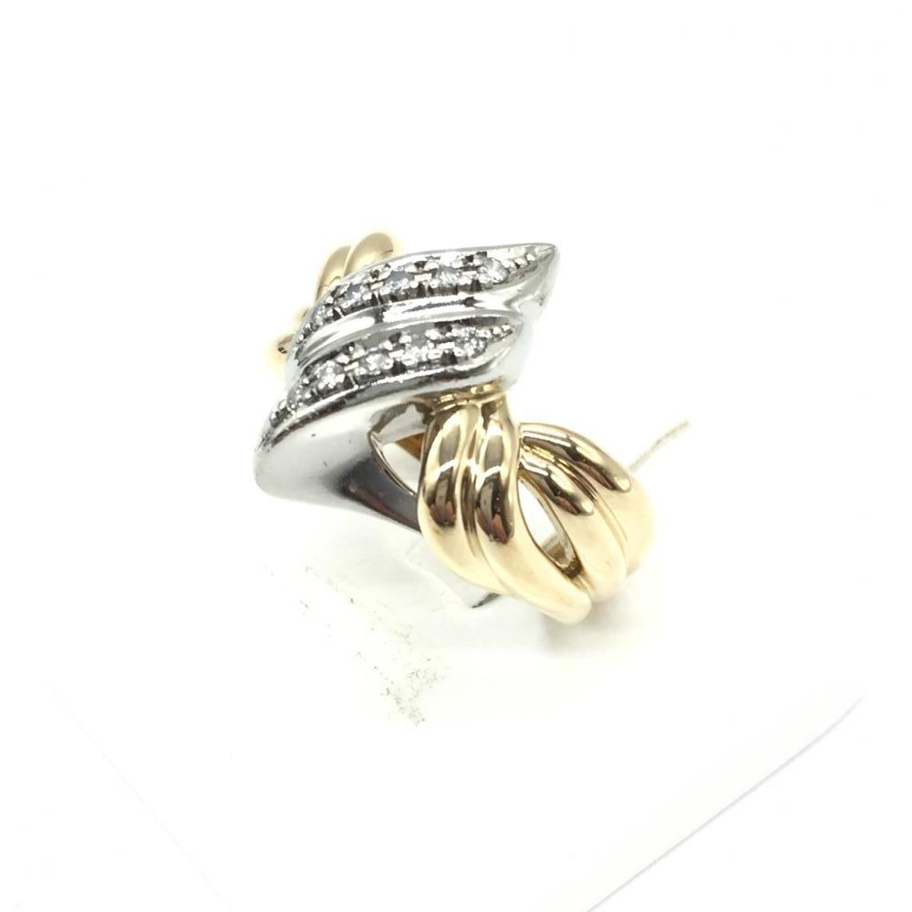 ジュエリー アクセサリー リング 指輪 K18/pt900 10.6g コンビ メレダイヤ MD0.12 貴金属 レディース サイズ16.5号 中古 管理RT15717