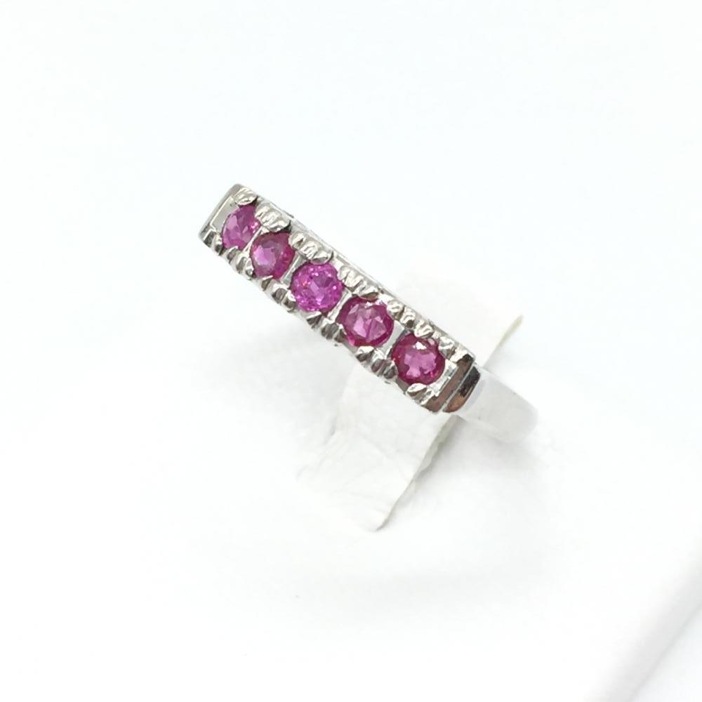 ジュエリー アクセサリー リング 指輪 ルビー5石 プラチナ Pt 850 3.1g 貴金属 12号 レディース 女性 小物 中古 管理RT15751