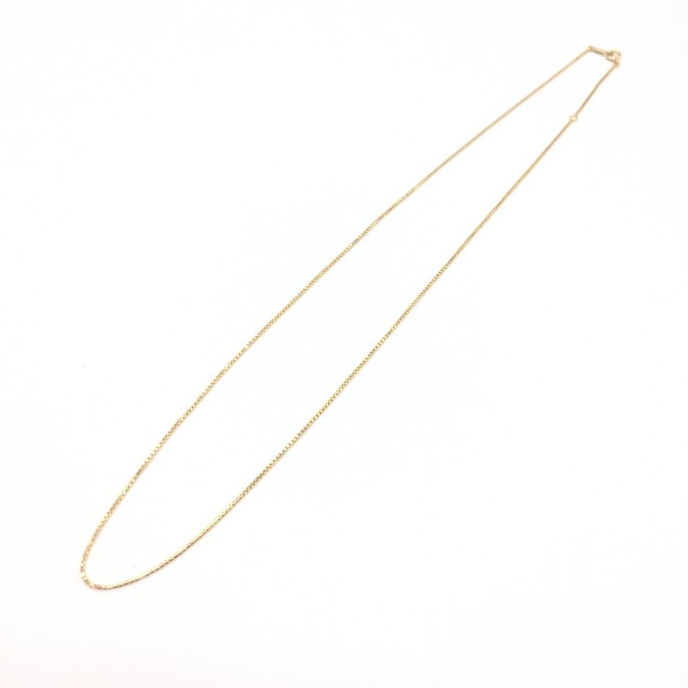 ジュエリー アクセサリー ベネチアン ネックレス ゴールド K18 3.5g 貴金属 49cm 細め レディース メンズ 中古 管理RT15820