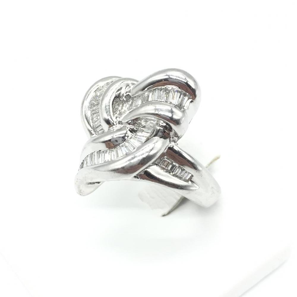 ジュエリー アクセサリー リング 指輪 プラチナ PT900 16.1g ダイヤモンド D0.8ct 貴金属 レディース 女性 小物 中古 管理RT15905