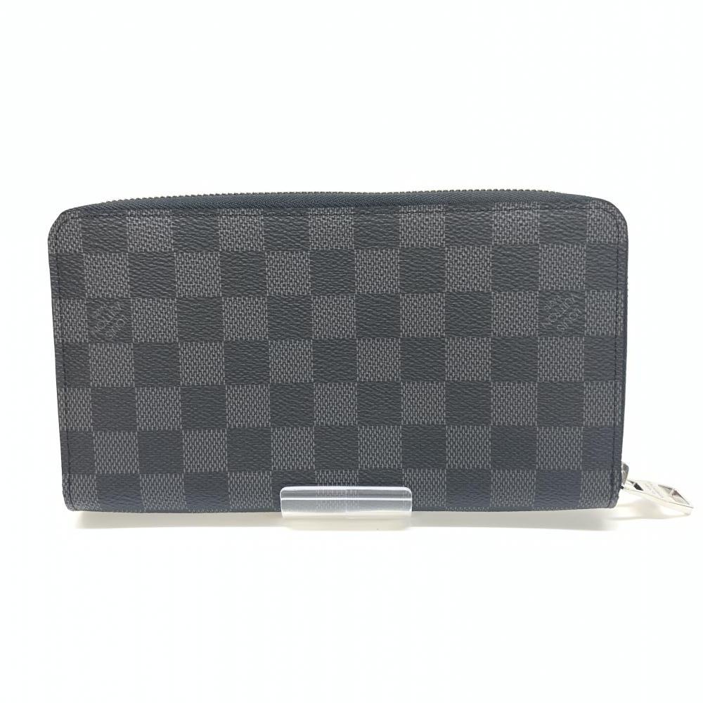 美品 LOUIS VUITTON ルイ・ヴィトン N63077 ダミエグラフィット ジッピーオーガナイザー メンズ 長財布 ブラック 黒 管理RM15977