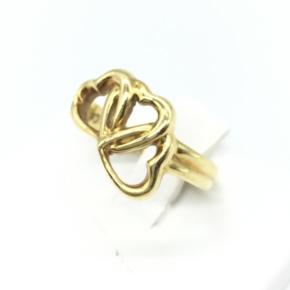 TIFFANY&Co. ティファニー トリプルラビングハートリング ゴールド K18(750) サイズ10号 アクセサリー 指輪 中古 管理RT15994