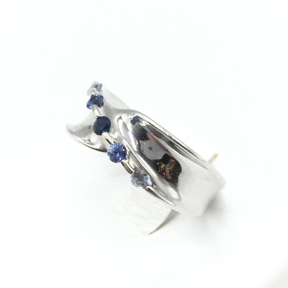 ジュエリー アクセサリー リング 指輪 K18WG ホワイトゴールド 5.3g サファイア S0.28ct ブルー 貴金属 中古 サイズ9.5号 管理RT16285