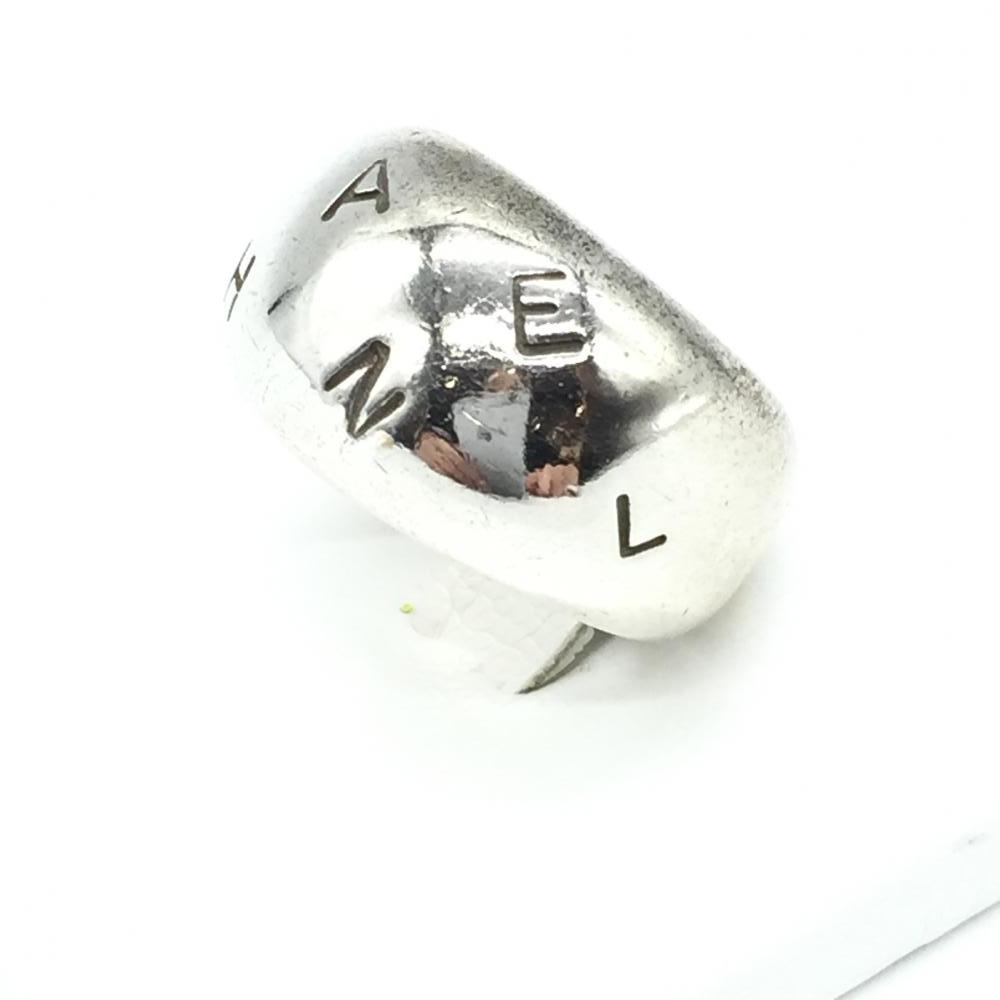 CHANEL シャネル シルバー925 リング 指輪 アクセサリー ロゴ入り サイズ11.5号 レディース ブランド 小物 ヴィンテージ 管理RT16684