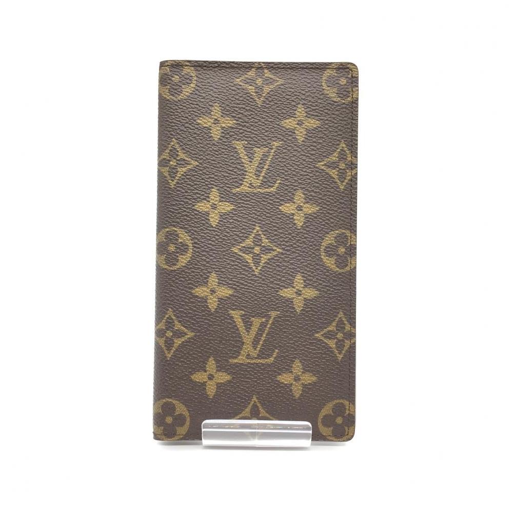 美品 LOUIS VUITTON ルイ・ヴィトン ポルト バルール カルト クレディ 札入れ カード収納 モノグラム ブラウン M61823 管理RT16722