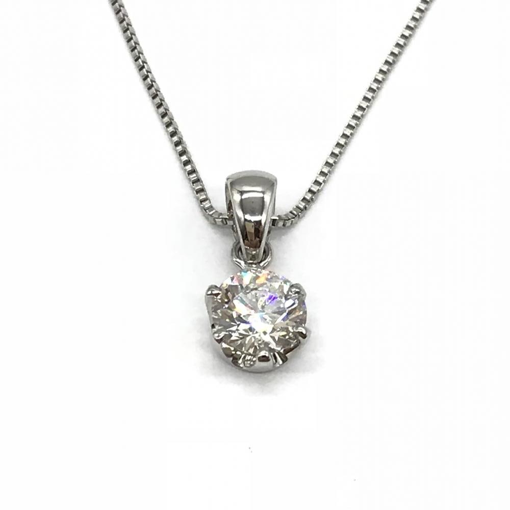 ジュエリー アクセサリー プラチナ Pt850 1.4g ダイヤネックレス ダイヤモンド D0.341ct 鑑定書付き レディース 女性 管理RT16973