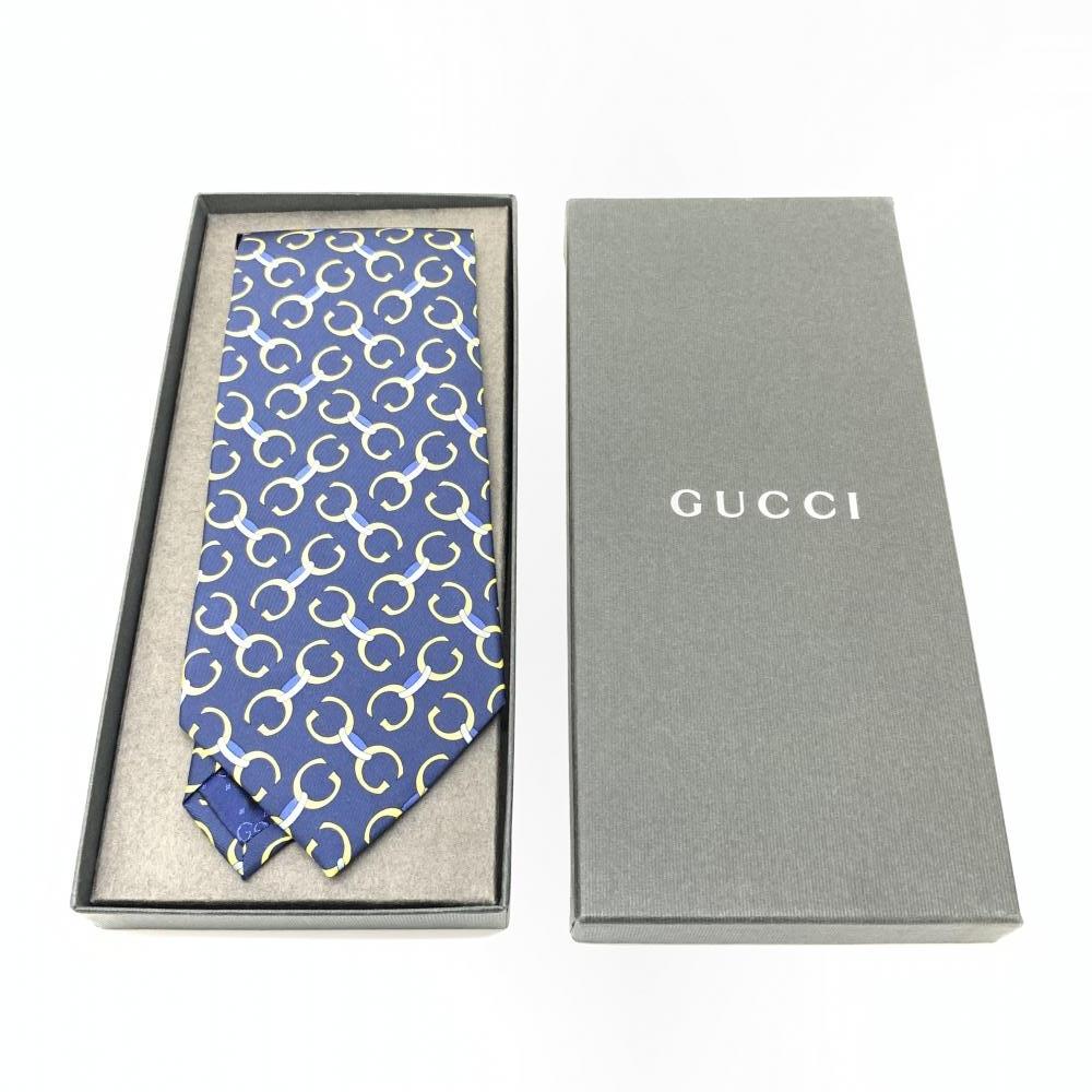 未使用 GUCCI グッチ ネクタイ 剣幅9.5cm スーツ シャツ ビジネス 仕事用 メンズ 紳士雑貨 ブランド 箱付き 管理RY17356