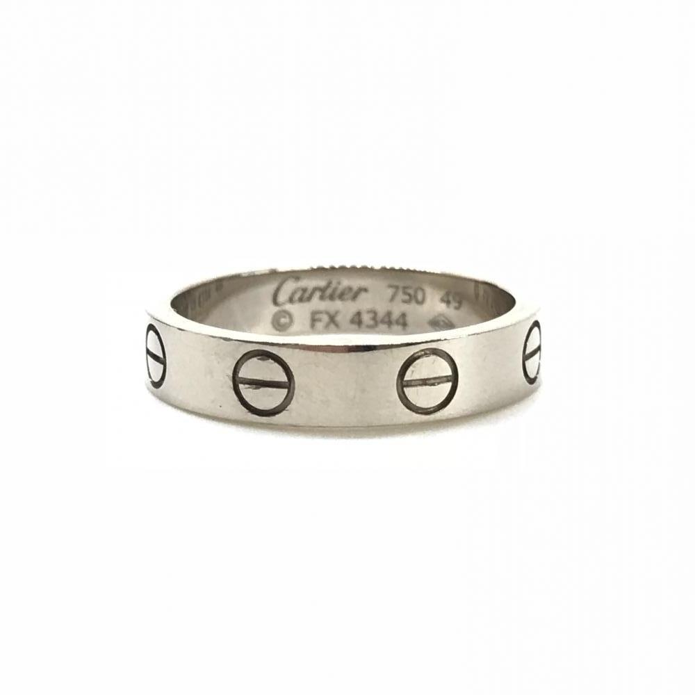 CARTIER カルティエ ラブリング 指輪 サイズ9号 750 3.8g ホワイトゴールド K18WG アクセサリー ジュエリー 箱 ブランド 管理RY17438