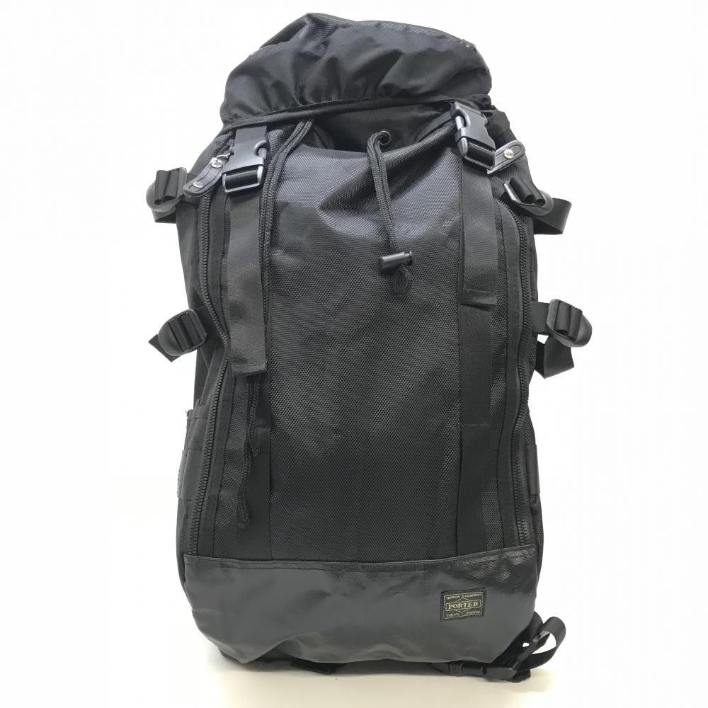 PORTER ポーター バックパック リュックサック ブラック 黒 ナイロン 旅行 トラベル 登山 山登り キャンプ メンズ ブランド 管理RY17054