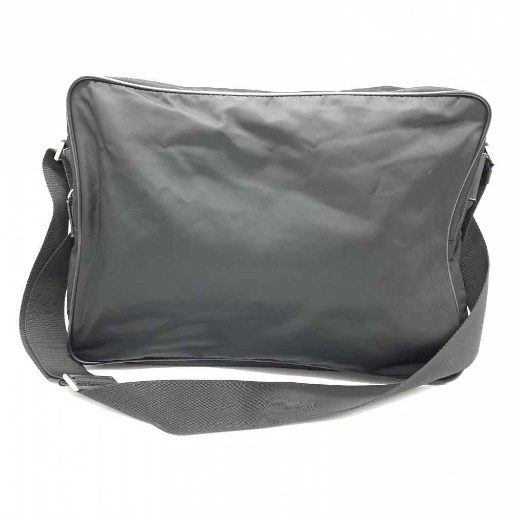 PRADA プラダ ナイロン メッセンジャーバッグ ブラック 黒 ショルダーバッグ メンズ 男性 ファッション ブランド 管理RT17182