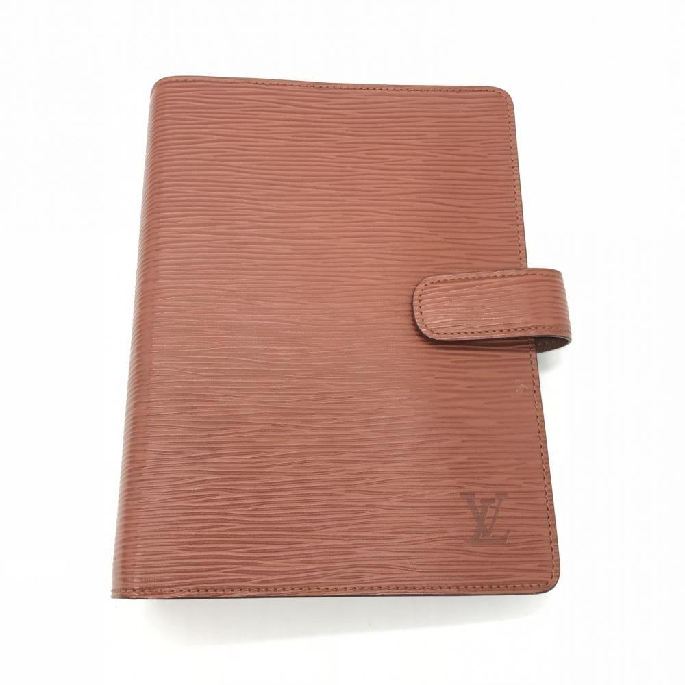 LOUIS VUITTON ルイ・ヴィトン アジェンダMM エピ ブラウン 茶色 R20043 メンズ レディース ブランド小物 ビジネス 手帳カバー 管理RT17543