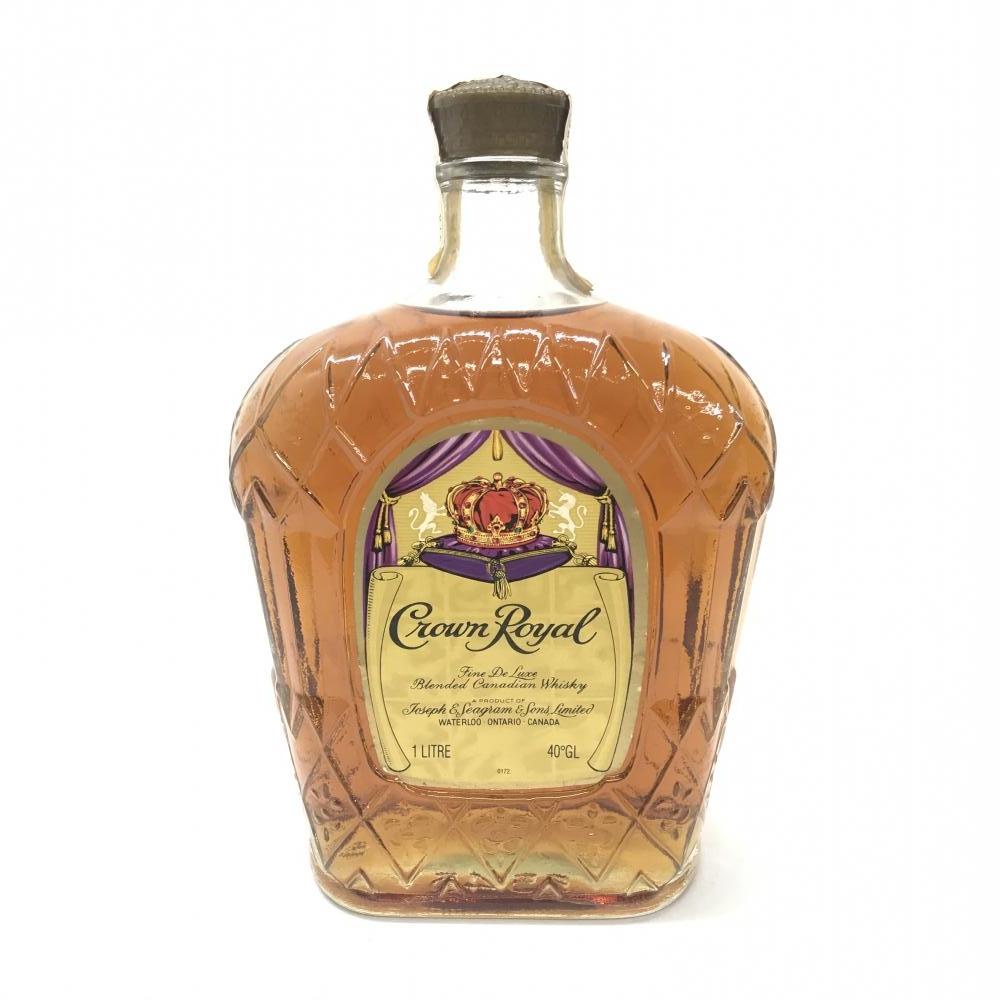 Crown Royal クラウン ローヤル カナディアン・ウイスキー モルト・グレーン 容量1000ml アルコール度数40% 未開封 中古 管理HS17151
