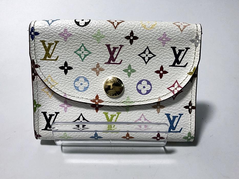 【Louis Vuitton】ルイ・ヴィトン モノグラム・マルチカラー ブロン アンヴェロップ・カルト ドゥ ヴィジット カードケース レディース M66560【中古】かんてい局亀有店