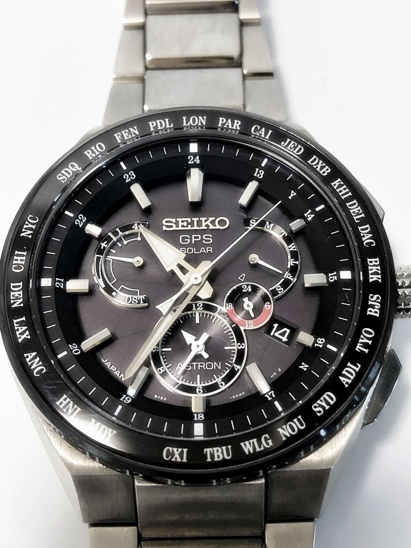 セイコー アストロン エクスルーシブライン メンズ腕時計 GPS電波ソーラー チタン セラミック ブラック文字盤 8X53-0AV0-2 SBXB123 【中古】【送料無料】かんてい局亀有店