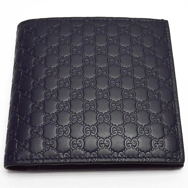 GUCCI【グッチ】150413 マイクログッチシマ 二つ折り財布 メンズ【中古】