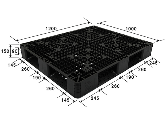 軽量プラスチックパレット(樹脂パレット)約1,200ミリ×1,000ミリ×150ミリ(H) EOG-1210 1210サイズ 5枚セット【新品】※こちらの商品は倉庫より直送となりますので、代引き不可、納期・時間指定はできません