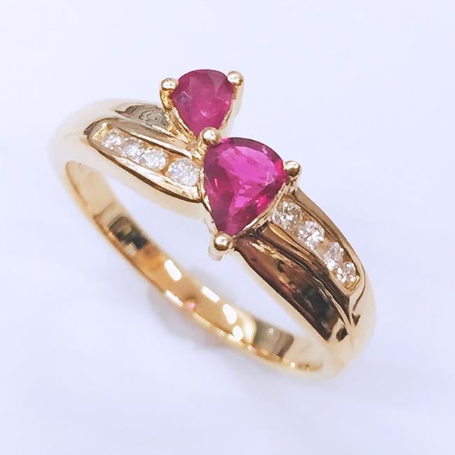 【限定!10倍ポイントバック】【中古】K18 YG イエローゴールド リング 指輪 ダイヤモンド 約3.8g/約12号 資産 レディース アクセサリー ダイヤ プレゼント ギフト 母の日