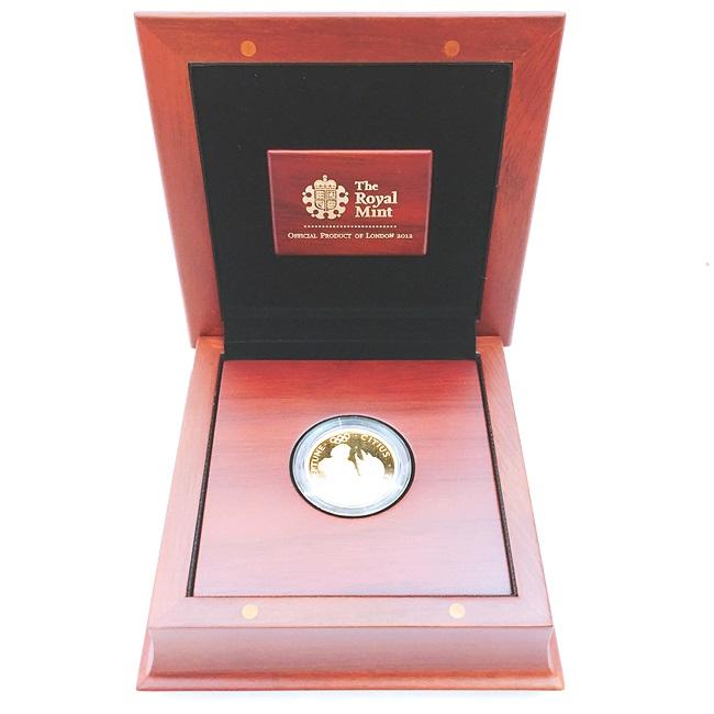 送料無料【中古】22金 ネプチューン金貨 100ポンド 限定600枚 2012年 ロンドン オリンピック ゴールドコイン K22 資産 贈呈 贈り物 還暦祝い 記念 コレクション h プレゼント ギフト 夏 祭り