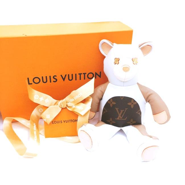 限定テディベア GI0142 ぬいぐるみ LOUIS 熊 ドゥドゥルイ VUITTON 【中古】 くま レザー ルイヴィトン モノグラム