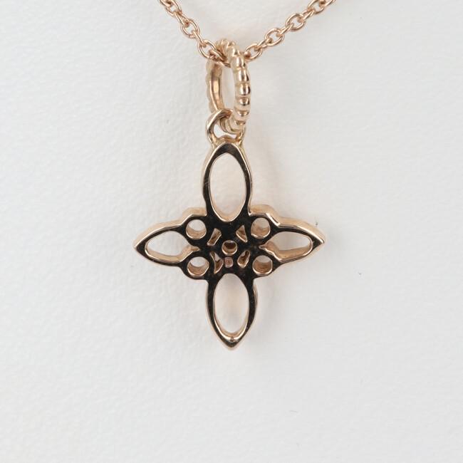 K18PG ダイヤモンド付ネックレス フラワーモチーフ約40cm 2 4g ピンクゴールド 18金 女性 レディース プレゼント ギフト春 卒業祝い 4月誕生石 父の日 母の日 ecR534AjqL