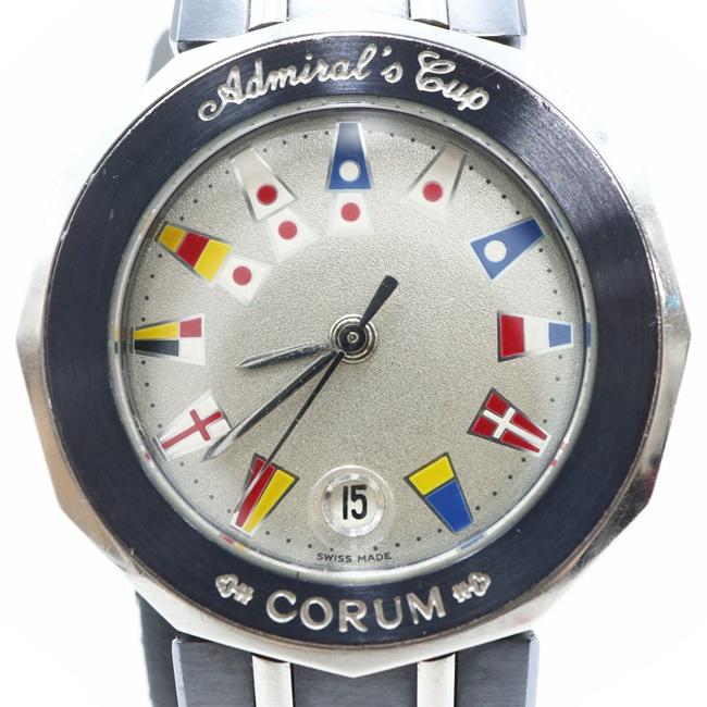 中古 コルム CORUM アドミラルズカップ 贈答品 39.610.30V50 シルバー文字盤 腕時計 レディース 女性 h 再販ご予約限定送料無料 クオーツ