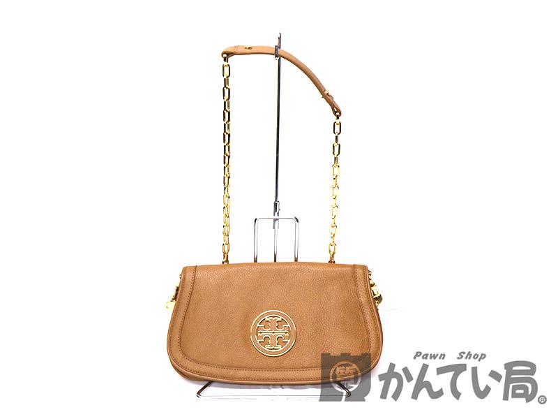 dd46d514239d TORY BURCH 【トリーバーチ】ショルダーバッグ レザー ベージュ系 ゴールド系 レディース 鞄 USED-