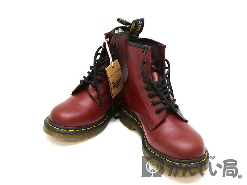 Dr.Martens【ドクターマーチン】 1460 8ホールブーツ レッド系 レザー 約25cm レディース メンズ 靴 USED-S/特上品【中古】 a18-1964 質屋 かんてい局茜部店