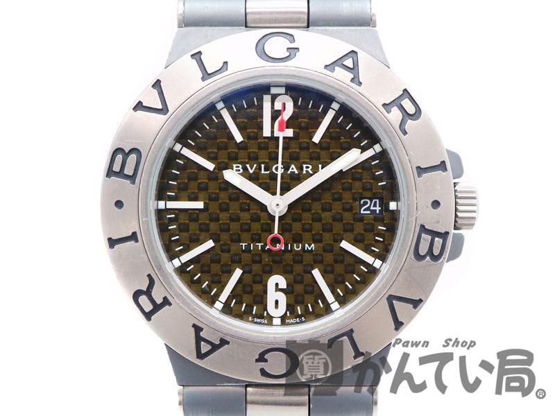 BVLGARI【ブルガリ】 TI38TA ディアゴノ チタニウム チタン ラバー メンズ 自動巻 腕時計 【中古】 質屋 かんてい局茜部店 a18-3649 USED-6