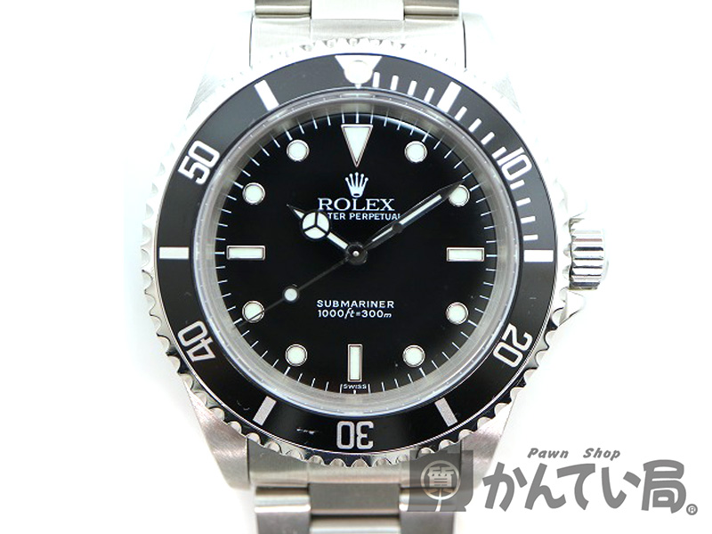 ROLEX【ロレックス】 14060 サブマリーナ ノンデイト 腕時計 メンズ A番 自動巻 オートマチック SS ダイバー 【中古】 質屋 かんてい局 茜部店 USED-9 a18-7698
