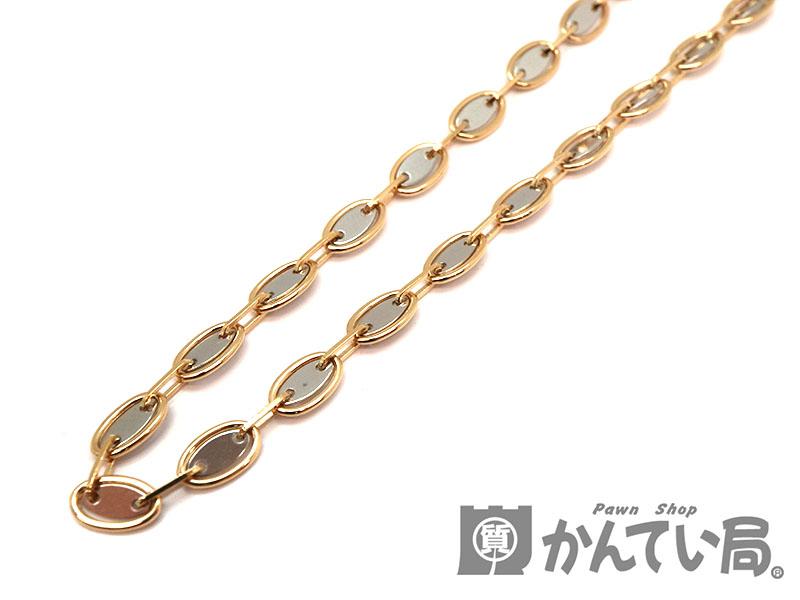 K18Pt850 デザインネックレス ゴールド 金 プラチナ 白金 約58.5cm ブレスレットとして約17.5cm ジュエリー アクセサリー 新品仕上げ済み USED-9【中古】 a18-5938 質屋 かんてい局茜部店