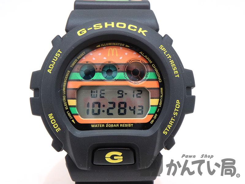 CASIO【カシオ】DW-6900FS  G-SHOCK 腕時計 樹脂 ステンレス ビックマックコラボ 1000本限定 ブラック系 クオーツ 電池式【中古】USED-8 質屋 かんてい局茜部店 a18-6293