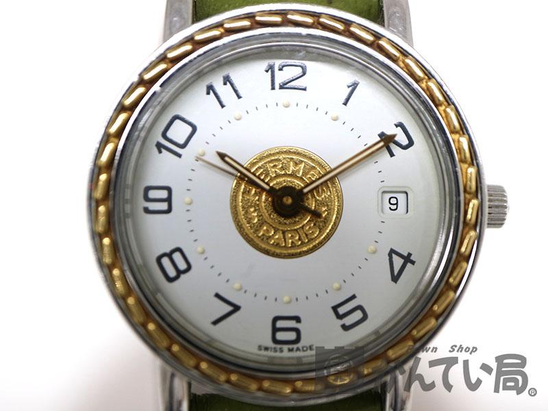 promo code 689fd 215b9 HERMES【エルメス USED-B【6】】 セリエ クォーツ腕時計 ...