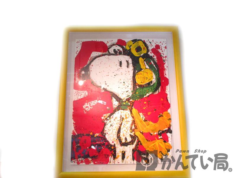 スヌーピー・シュルツ トムエバーハート リトグラフ 絵画 インテリア ディスプレイ 【中古】USED-B n17-6503 質屋 かんてい局北名古屋店