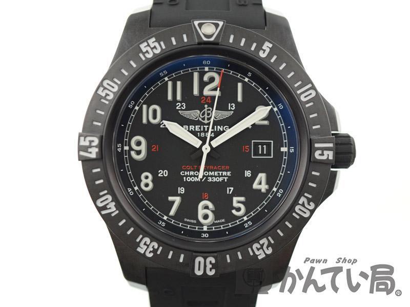 BREITLING 【ブライトリング】 スカイレーサー X74320 ラバーベルト ブライトライト メンズ 腕時計 【中古】 USED-S【10】k18-3749 質屋 かんてい局春日井店