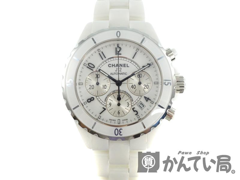 super popular f3e8a b8d49 CHANEL【シャネル】 H1007 『J12/クロノグラフ』 セラミック 腕時計 メンズ ホワイト 自動巻き オートマチック ...