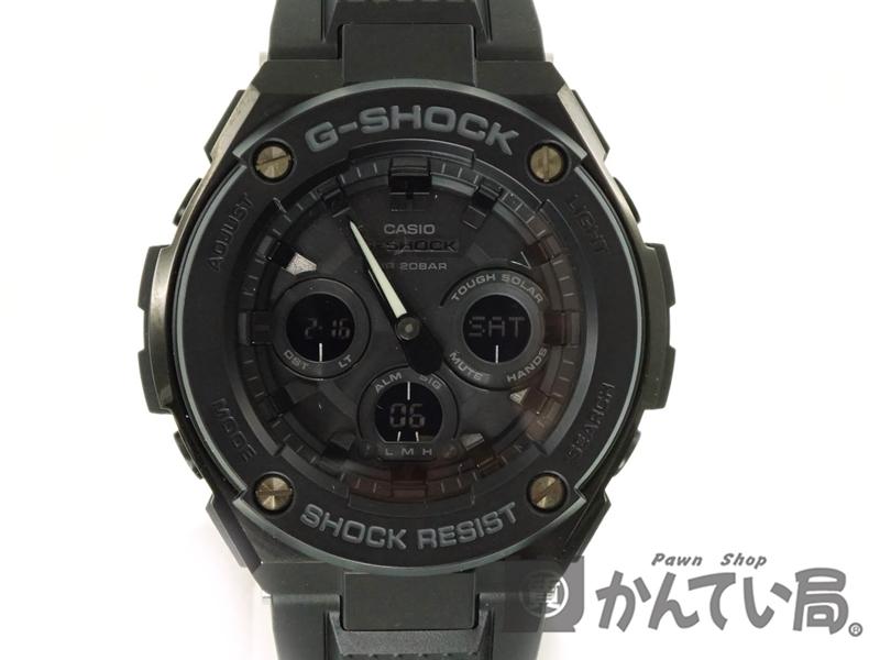 CASIO【カシオ】 GST-S300G G-SHOCK ジーショック メンズ 腕時計 ブラック タフソーラー 【中古】 USED-8 質屋 かんてい局春日井店 k19-406