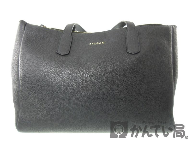 f7dd719dd9e6 BVLGARI【ブルガリ】284477トートバッグハンドバッグレザーブラック系ファッションレディースブランド【中古