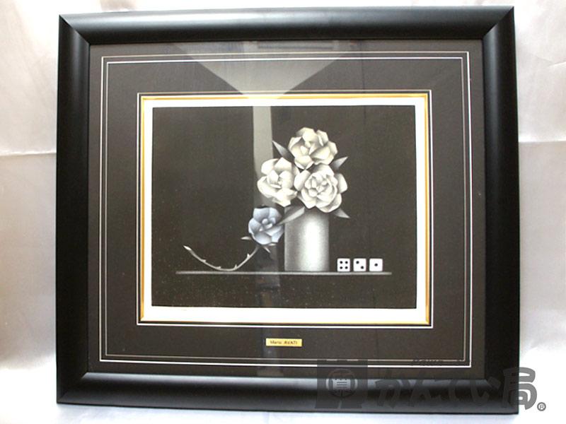 MARIO AVATI マリオアバチ ダイス4/2/1 メゾチント 保証書付 絵画 インテリア【中古】USED_B  n16-6889 質屋 かんてい局北名古屋店