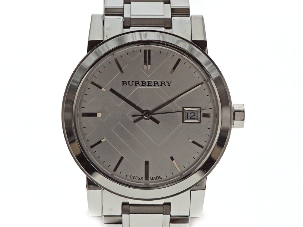 BURBERRY【バーバリー】 クォーツ ボーイズ メンズ レディース チェック  シルバー 腕時計 【中古】USED-6 質屋 かんてい局北名古屋店 n18-9328