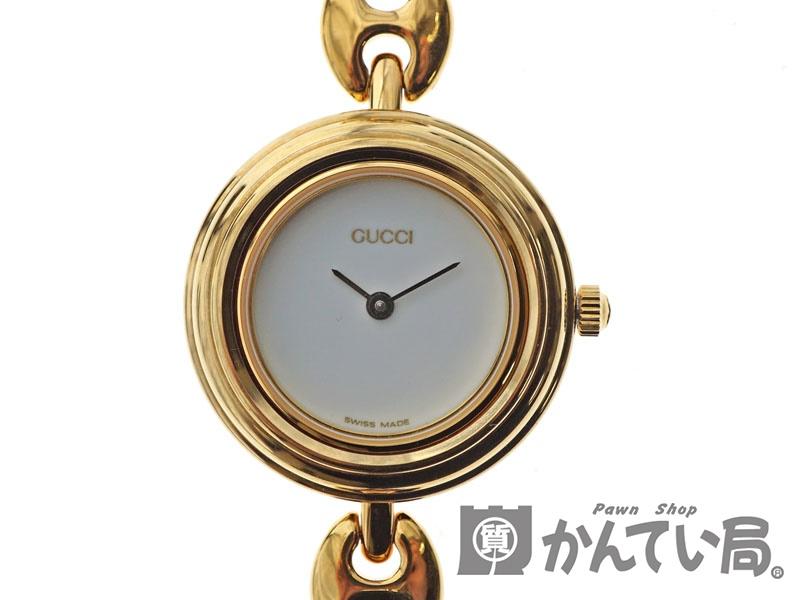 b3e07440fca3 GUCCI【グッチ】11/12.2チェンジベゼルウォッチクオーツGPゴールドレディース腕時計【