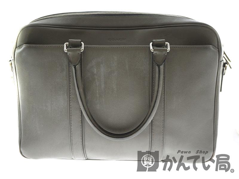 COACH【コーチ】 F71250 ビジネスバッグ レザー グレー系 ビジネスバッグ 鞄 【中古】 USED-4 質屋かんてい局北名古屋店 n18-9242