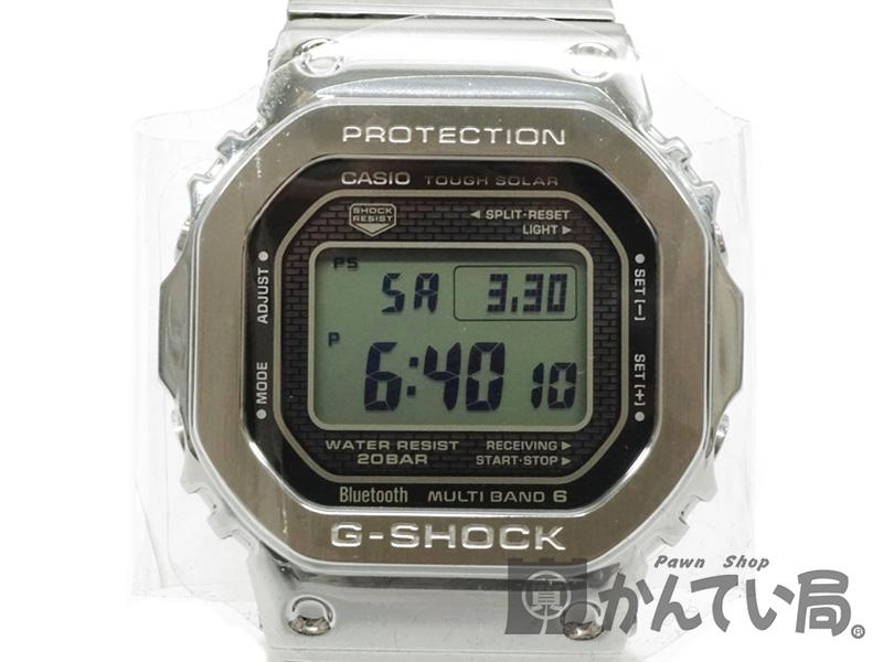 【未使用品】 CASIO 【カシオ】 GMW-B5000D-1JF G-SHOCK フルメタル シルバー 腕時計 ソーラー マルチバンド6 Bluetooth メンズ 【中古】 h19-1286 質屋かんてい局細畑店