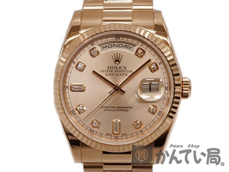 ROLEX 【ロレックス】 118235A デイデイト K番 ダイヤ K18PG 腕時計 メンズ USED-9【中古】 質屋かんてい局細畑店 h19-728