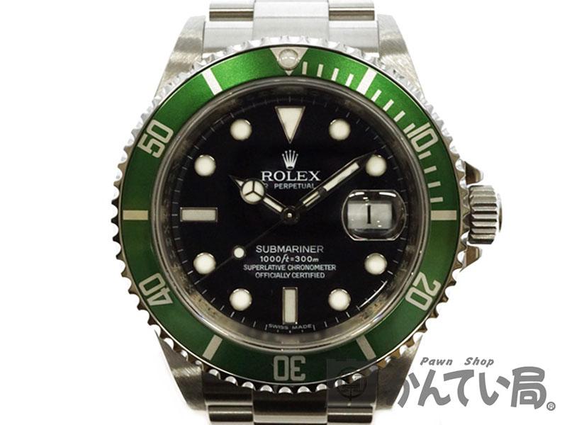 ROLEX 【ロレックス】 16610LV サブマリーナーデイト M番 ルーレット メンズ 腕時計 USED-9 【中古】 質屋かんてい局北名古屋店 n19-1303