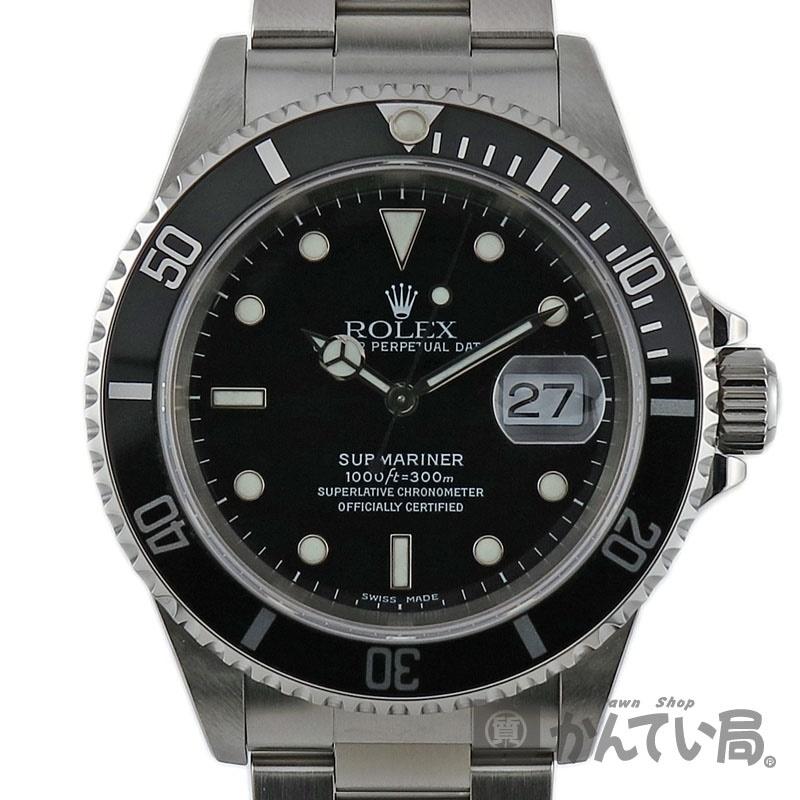 ROLEX【ロレックス】16610 サブマリーナー デイト A番 ブラック メンズ SS(ステンレス)自動巻 腕時計【中古】かんてい局小牧店 c19-830