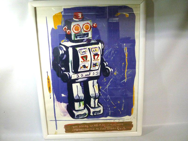 絵画 ロボット/ホワイト ED:7/10 H77.5×W59.5cm【中古】 質屋 かんてい局小牧店 c18-4648