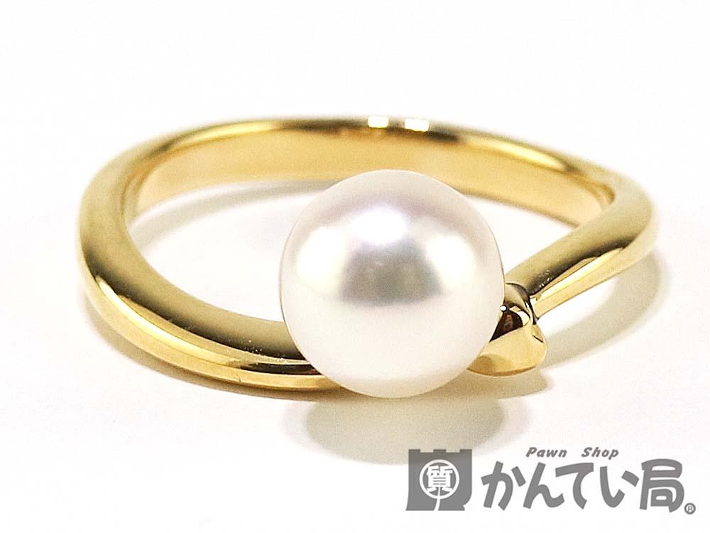 K18 パール リング 18金 真珠 指輪 12号 7.2mm ホワイト ソーティング アコヤ真珠 4.0g 【中古】USED-9 質屋かんてい局 小牧店 c18-4826