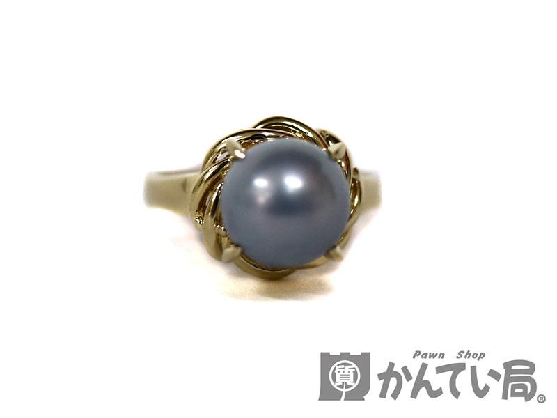 K18 パールリング 7号 約7mm 真珠 レディース 【中古】 質屋 かんてい局小牧店 c18-7108