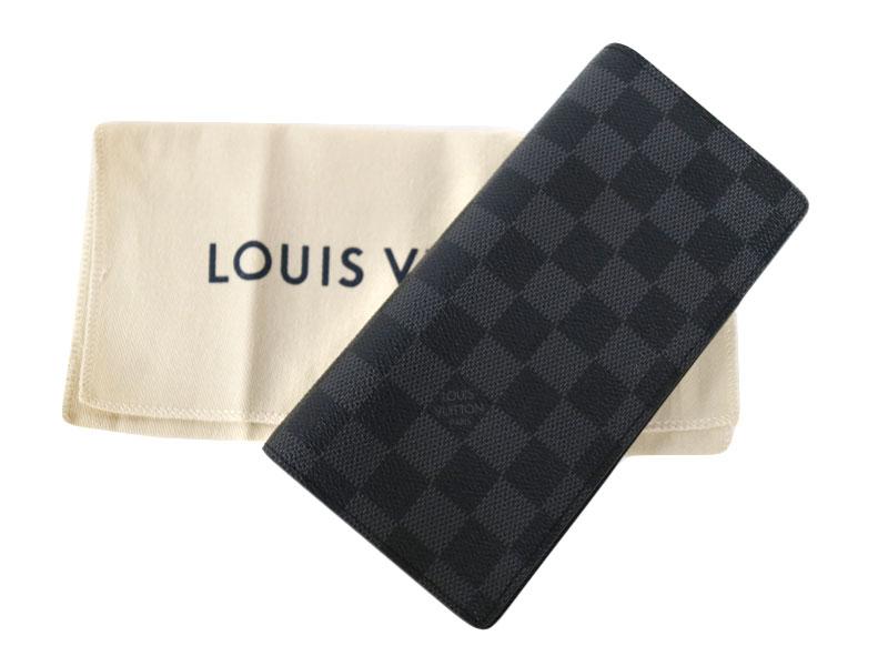 LOUIS VUITTON ルイ・ヴィトン N62665 ポルトフォイユ・ブラザ ダミエ・グラフィット キャンバス メンズ ブラlFcJK1