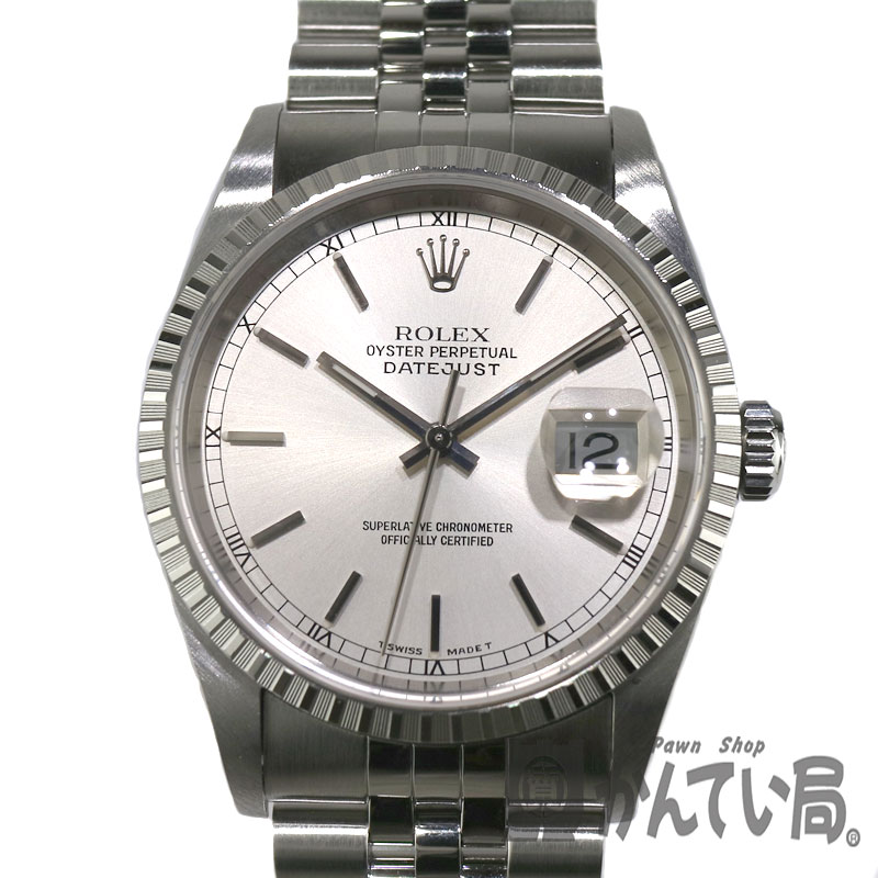 ROLEX【ロレックス】16220 デイトジャスト シルバー(SV)メンズ 自動巻 腕時計 U品番【中古】かんてい局小牧店 c18-7088